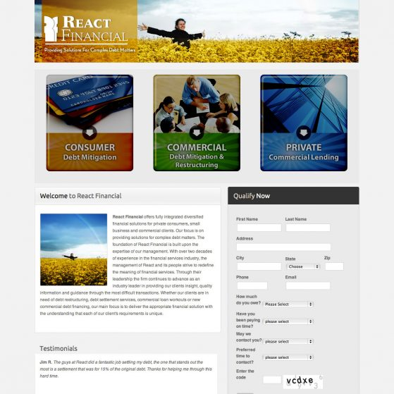 Web Design – React Financial