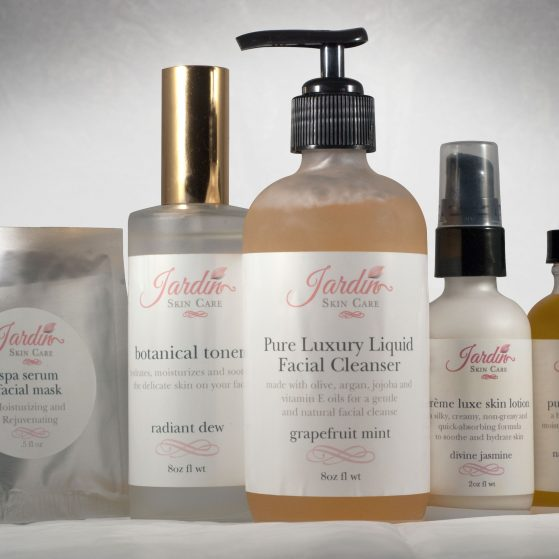 Jardin Skin Care Group Product Photography
