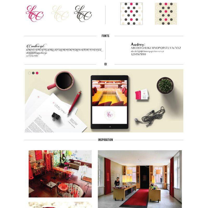 Laurel Cachet Home Decor Branding