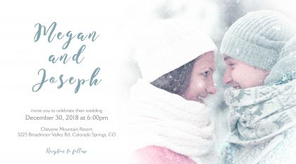 Winter Wedding Invite After